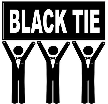 black people: men wearing tuxedo holding sign saying black tie - black tie event