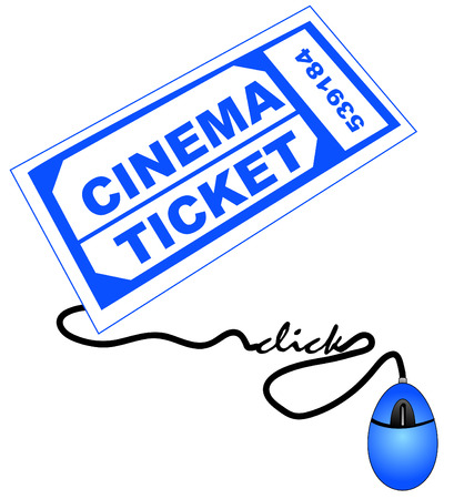 shopping for cinema or movie theater tickets online Vector