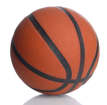 leather basketball isolated on a white background Stock Photo - 3756637