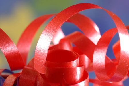 festive ribbon details with blurred background and selective focus photo