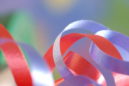 ribbon details with selective focus and blurred background photo
