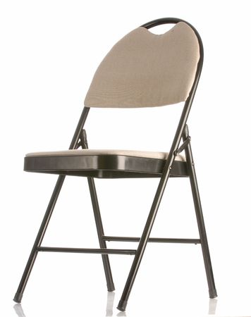 folding chair: folding chair isolated on a white background Stock Photo