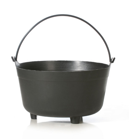 caldron: caldron - black kettle isolated on white background