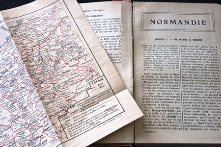 guidebook: Normandy France guidebook and map