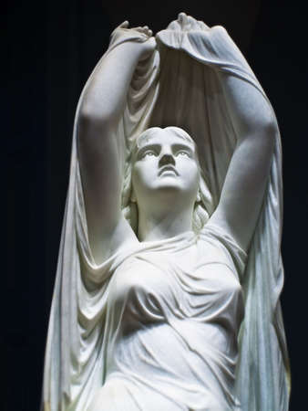 statue: Beautiful statue of an angelic woman
