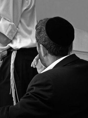 haredi: Religious Jewish man in  prayer Stock Photo