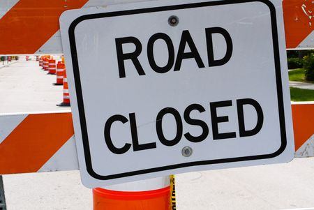 Road closed sign Stock Photo - 7972003