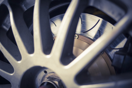drift: Super sport car alloy wheel disc brake