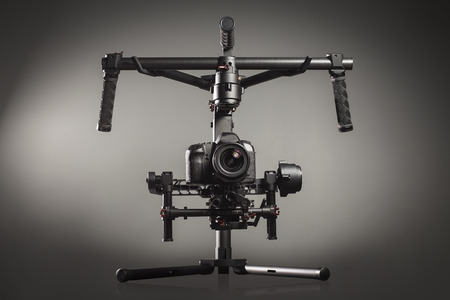 taking video: Video production stabilization gimball slr mount