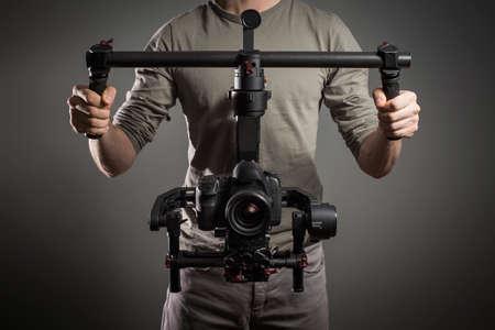 produktion: Professionelle Videofilmer mit Kardanmittel Video slr