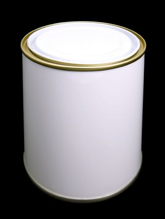 Blank White Paint Tin (with clipping path) photo