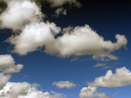cirrus: Moody sky with Cumulus,stratus and cirrus clouds
