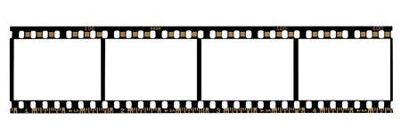 A Strip of 4 frames of 35mm Negative Film photo