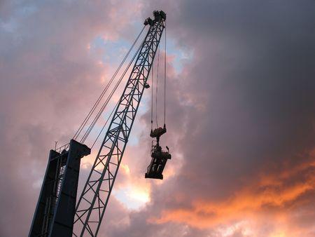 Container crane. photo