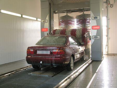 In carwash. Stock Photo