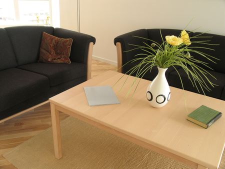 Interior from modern danish living room.