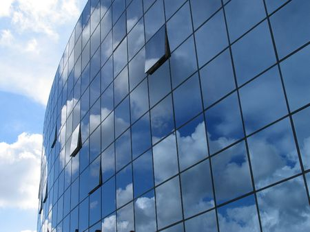 Futuristic business building. Stock Photo
