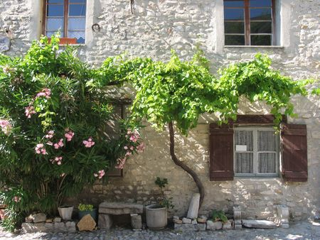 Nice village house found in the old part of Vaison La Romain, Provence, France.