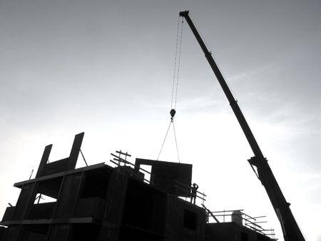 Building new urban apartments.