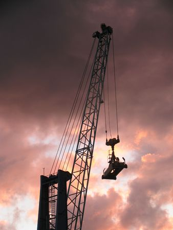 Container crane at sunset Stock Photo - 272498