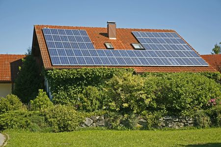 coletor: German house with solar collector