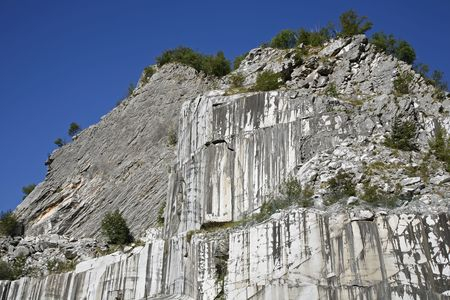 carrera: Abandoned marble quarry near Carrera, Tuscany - Italy.