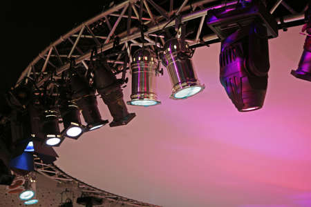 Stage lighting: Stage light with space for text.