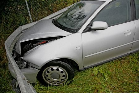 Front of new car after a car crash. Drunken driving? Stock Photo - 1787286