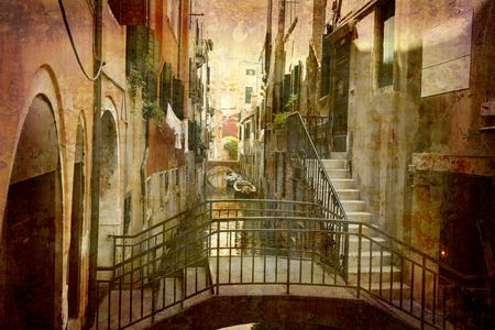 Postcard from Italy. -  Urban Venice. Stock Photo - 1897775