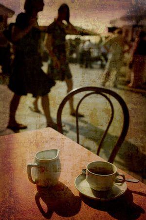 Postcard from Italy. - Espresso Venice. Stock Photo