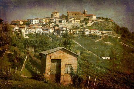 Postcard from Italy. - La Morra - Piedmont. Stock Photo - 1928882