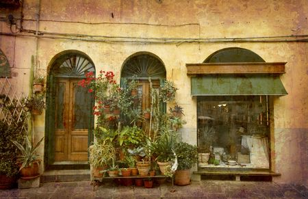 Postcard from Italy. - Florist - Lucca, Tuscany.