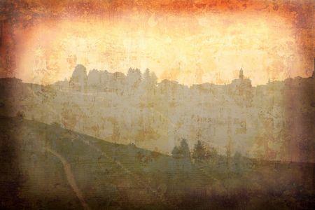 piedmont: Postcard from Italy. - Sunset - Piedmont.