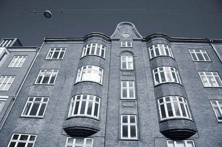 duotone: Old urban apartment building Denmark - Duotone.