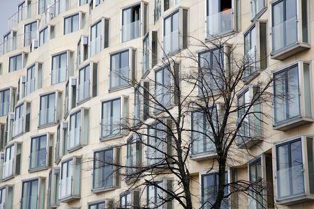 property berlin: Modern urban apartment building Berlin - Germany.