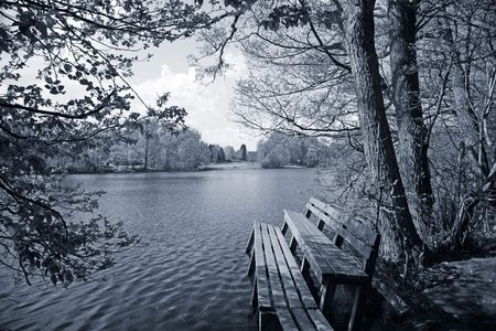 Nice bench with view - Denmark. - Duotone