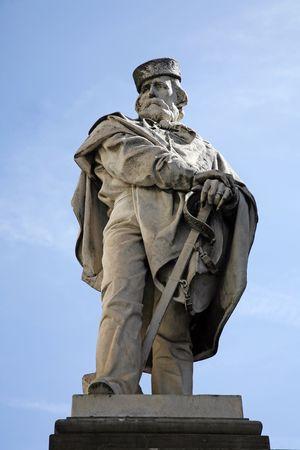 garibaldi: Giuseppe Garibaldi (July 4, 1807 � June 2, 1882) was an Italian military and political figure. Statue Todi, Umbria, Italy