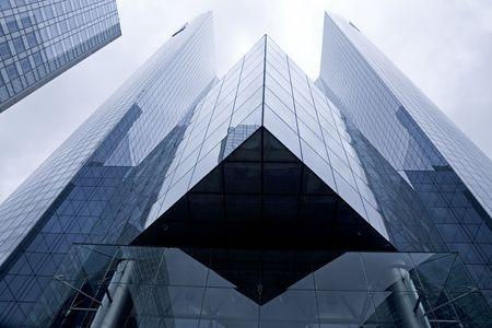 Futuristic corporate office building
