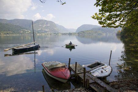 bohinj: Hazy day by Lake Bohinj, Slovenia.