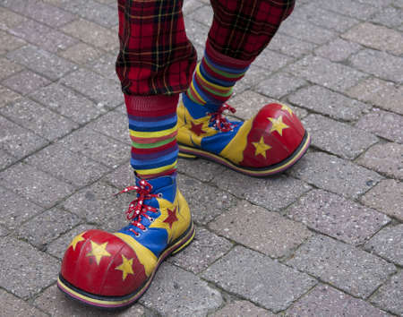 The feet of a clown. photo