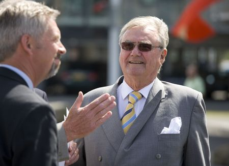 prince of denmark: H R H Prince Henrik of Denmark - married to the Margrethe the 2nd - Queen of Denmark. Here visiting Vesterhavnen in Nyborg on June the 2nd 2009. Editorial