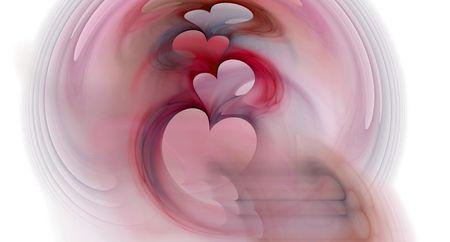 Digital generated graphic Valentine fractal. photo