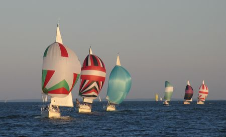 Evening sailing competition - just after the start.