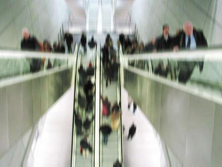 Rush hour in the metro Stock Photo