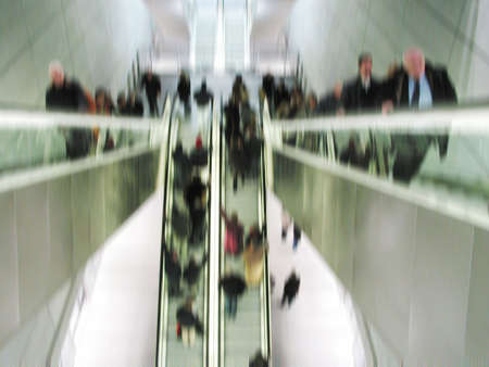 business life line: Rush hour in the metro Stock Photo