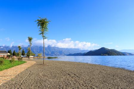 View of Lugu Lake in Yunnan  photo