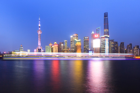 Night at The Bund in Shanghai