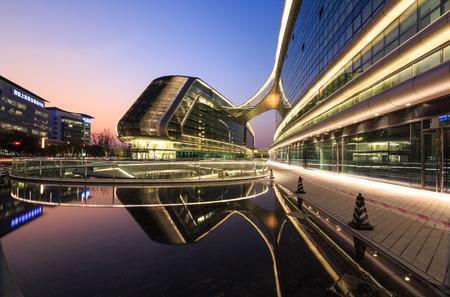 architectural lighting design: Building of Sky SOHO, Shanghai