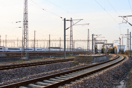 parking facilities: Railway track