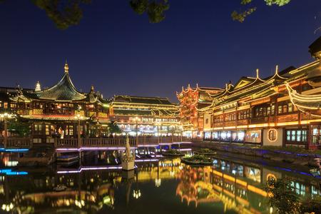 attics: Shanghai chenghuang temple at night Editorial